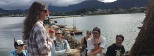 The PICCC team visits the He`eia fishpond Photo credit: (Lucas Fortini)
