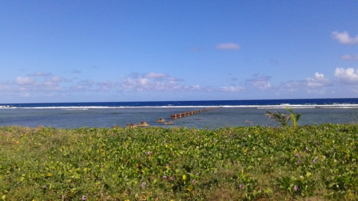 "The view from the Asan Beach ""War in the Pacific"" National Historic Park in Guam."