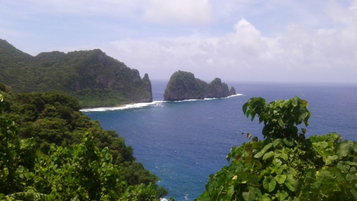 A view of Pola Island in the National Park of American Samoa.