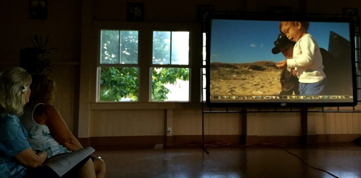 Image: One of the evening's highlights was the premier of a documentary produced by Ka Honua Momona, which explores local experiences with environmental change in Moloka'i. (photo: W. Miles)