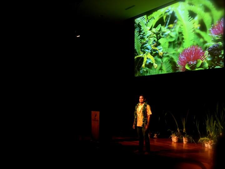 Kalani Quiocho of Hawaii delivers the talk 'The 'Aumakua'