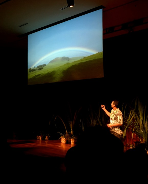 Noa Kealakekua Lincoln of Hawaii speaks about  'When you're hungry you harvest'