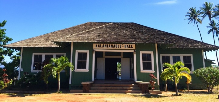 Image: The Community Meeting on Climate Change was held at Kalanianaʻole Hall, Moloka'i (photo: W. Miles)